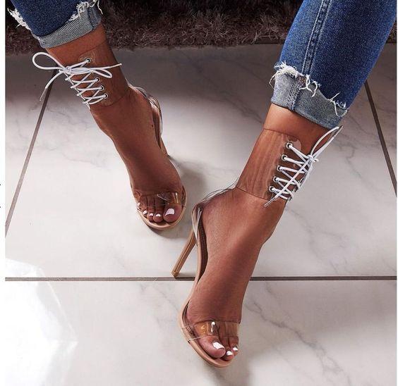 مدل کفش مجلسی دخترانه شیشه ای